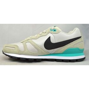 Mens Teal White Air Waffle Trainer Training Shoes